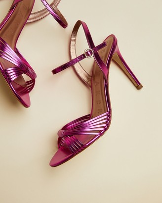 Ted Baker Leather Metallic Strappy Sandals