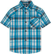 Hurley Toddler Boy Raglan Woven Plaid Button-Down Shirt