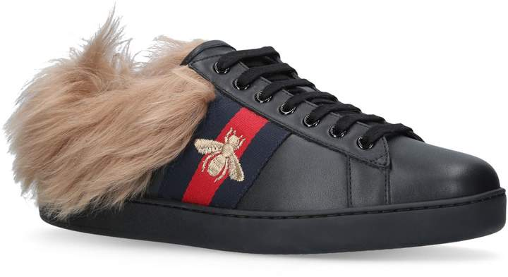 Gucci Shearling New Ace Sneakers