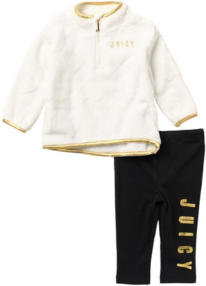 Juicy Couture Faux Fur Top & Leggings Set (Baby Girls 3-9M)