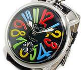 GaGa MILANO GaGaMILANO MANUALE48 manual winding Men's Watch 5010.02S-BLK