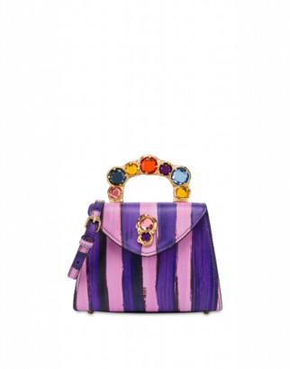 Moschino Jewel Closure Handbag Woman Purple Size U It - (one Size Us)