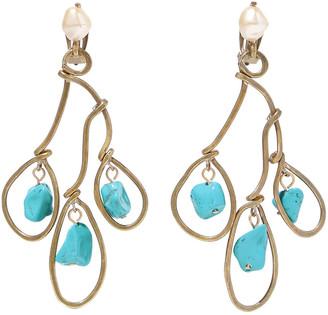Marni Gold-tone Resin Clip Earrings