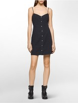 Calvin Klein Denim Snapfront Dress
