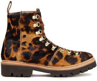 Grenson Nanette Leopard-print Calf Hair Ankle Boots