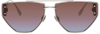 Christian Dior Silver DiorClan2 Sunglasses