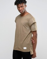 Criminal Damage T-shirt With Layered Sleeves