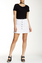 Jolt Seamed Denim Mini Skirt