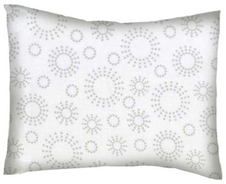 Sheetworld Twin Pillow Case - Percale Pillow Case - Grey Dot Circles