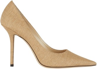 Jimmy Choo Love 100 Raffia Pumps