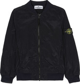 Stone Island Logo nylon bomber jacket 6-14 years