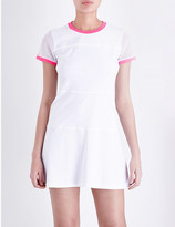 Monreal London Club mesh and stretch-jersey tennis dress