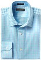 Banana Republic Grant-Fit Non-Iron Stretch Gingham Shirt
