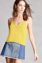 Forever 21 FOREVER 21+ Raw-Cut Satin Cami