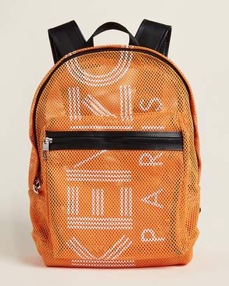 Kenzo Orange Mesh Logo Backpack