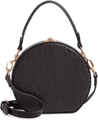 Sondra Roberts Canteen Woven Faux Leather Crossbody Bag