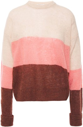 Joie Color-block Boucle-knit Wool-blend Sweater
