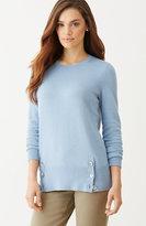J. Jill Buttoned-Hem Sweater