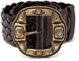 Etro Braided Leather Belt - Womens - Brown