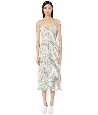 Vince Marine Garden Pleated Cami Dress