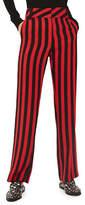 Topshop Stripe Wide Trousers
