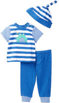 Offspring Frog Tee, Pant, & Hat Set (Baby Boys 3-9M)