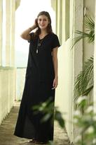 Shabby Apple Amazonion Pocket Maxi Dress Black