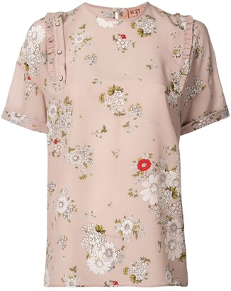 No.21 Floral Shortsleeved Blouse