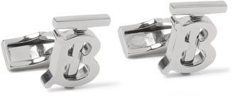 Burberry Logo-Detailed Silver-Tone Cufflinks