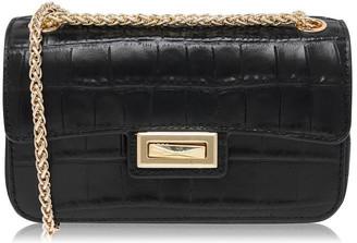 DKNY Jojo Crocodile Small Flap Over Cross Body Bag