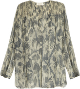 Zimmermann Adorn Bird Chintz-print silk-chiffon blouse