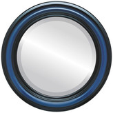 """The Oval And Round Mirror Store Philadelphia Framed Round Mirror in Royal Blue, 21""""x21"""""""