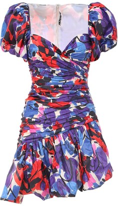 Rotate by Birger Christensen Dionne Abstract-Print Mini Dress