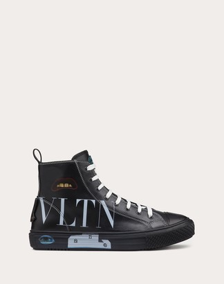 Valentino Garavani Uomo Emilio Villalba Collaboration Giggies High-top Sneakers Man Silver Cowhide 100% 42