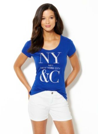 New York & Co. Love, NY&C Collection – Bling Logo Tee