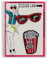 Design Lab Lord & Taylor Sunglasses and Popcorn Iron-On Patches