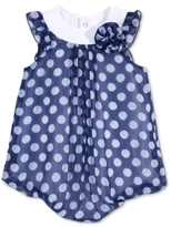 First Impressions Dot-Print Chiffon Bubble Romper, Baby Girls (0-24 months)