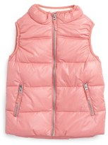Pumpkin Patch Quilted Vest (Toddler Girls & Little Girls)