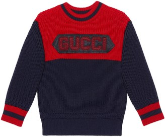 Gucci Children's wool jumper with patch
