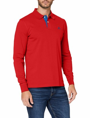 Gant Men's Contrast Collar Pique Ls Rugger Polo Shirt