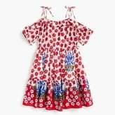J.Crew Girls' tie-shoulder dress in red floral