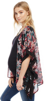 Motherhood Lace Trim Maternity Kimono