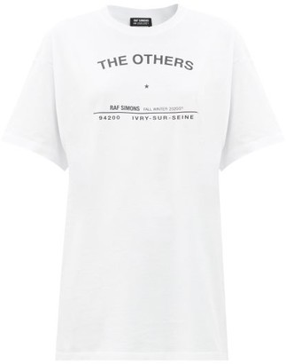 Raf Simons The Others-print Cotton-jersey T-shirt - White