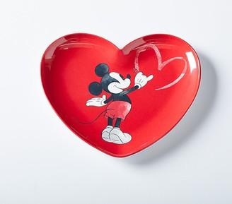Pottery Barn Kids Disney Mickey Mouse Valentines Heart Shaped Plates