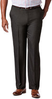 Haggar Big & Tall Cool 18 Pro Heather - Classic Fit, Flat Front, Hidden Expandable Waistband