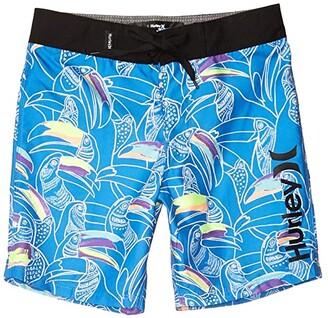 Hurley Basin Beach Birds Boardshorts (Little Kids) (Pacific Blue) Boy's Swimwear