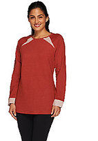Denim & Co. As Is Active French Terry Tunic w/Reverse Terry Detail