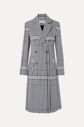 Loewe Checked Linen Coat - Blue