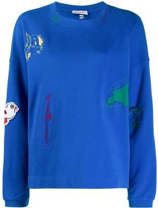 Mira Mikati bird patch sweatshirt