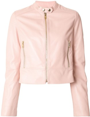 Dolce & Gabbana cropped leather jacket